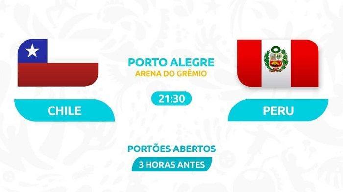 Live di KVision Semifinal Copa America Chile Vs Peru, Kamis Pukul 07.30 WIB