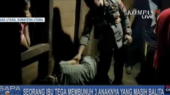 Seorang ibu berinisial Marina Tafaona'o (30) tega membunuh tiga anak kandungnya yang masih balita dirumahnya yang berada di Dusun II, Desa Banua Sibohou, Kecamatan Namohalu Esiwa, Kabupaten Nias Utara pada Rabu (9/12/2020).