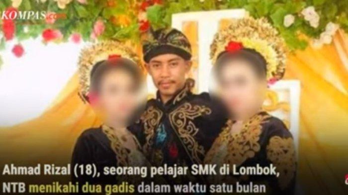 channel YouTube Kompascom Reporter on Location Seorang pelajar SMK asal Lombok Barat, Nusa Tenggara Barat (NTB) bernama Ahmad Rizal menikahi dua wanita dalam waktu