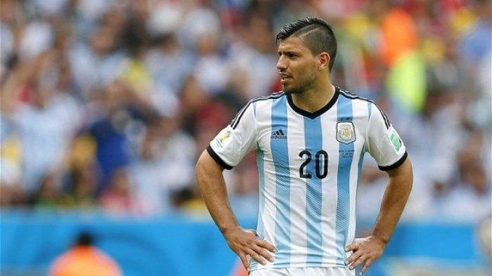 Sergio Aguero saat membela Timnas Argentina