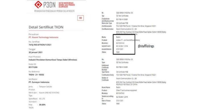 Sertifikasi Redmi Note 10 di situs TKDN Kemenperin dan FCC