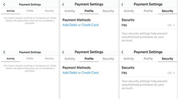 Setting untuk mengatur pembayaran di Instagram