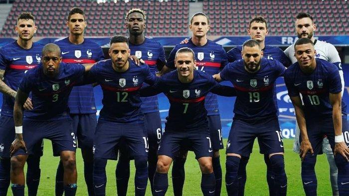Skuad Timnas Prancis pada pertandingan uji coba melawan Wales jelang EURO 2020.