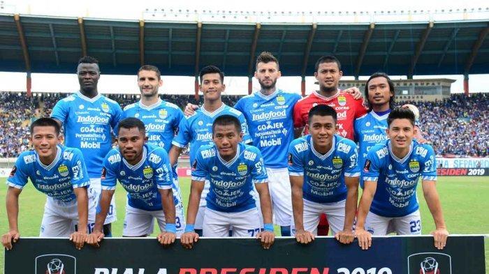 Skuat Persib Bandung di pertandingan melawan Persebaya Piala Presiden 2019