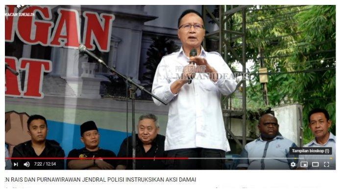Sofyan Jacob saat berbicara menjadi relawan Prabowo-Sandi, Minggu (19/5/2019)