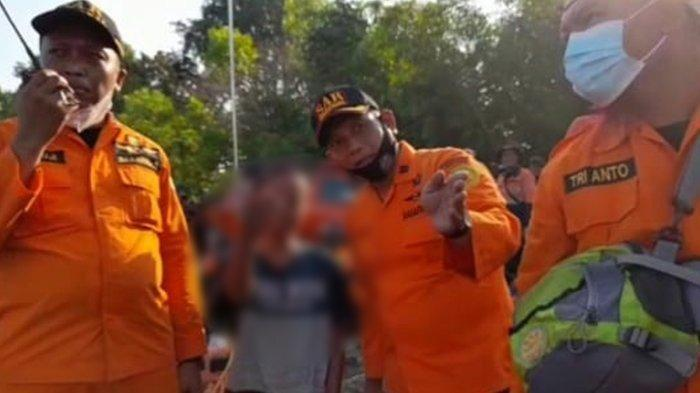 Tangkapan layar sosok nahkoda perahu maut di Waduk Kedung Ombo saat berkoordinasi dengan SAR.