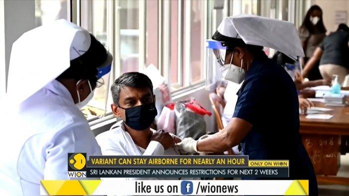Vaksinasi di Sri Lanka.