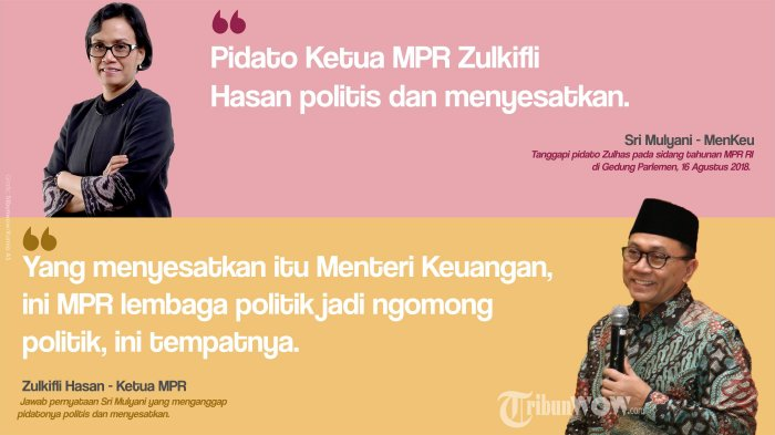 Pidatonya Disebut Menyesatkan oleh Sri Mulyani, Zulkifli Hasan: Ibu Jadi Menteri Keuangan di Era SBY