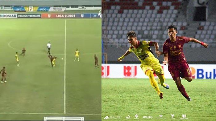 Pemain Sriwijaya FC Lakukan Sepakan Kungfu di Laga Vs Semen Padang, Wasit Hanya Beri Kartu Kuning