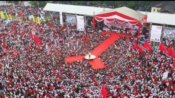 Suasana Kampanye akbar Joko Widodo (Jokowi) di Solo, Selasa (9/4/2019).