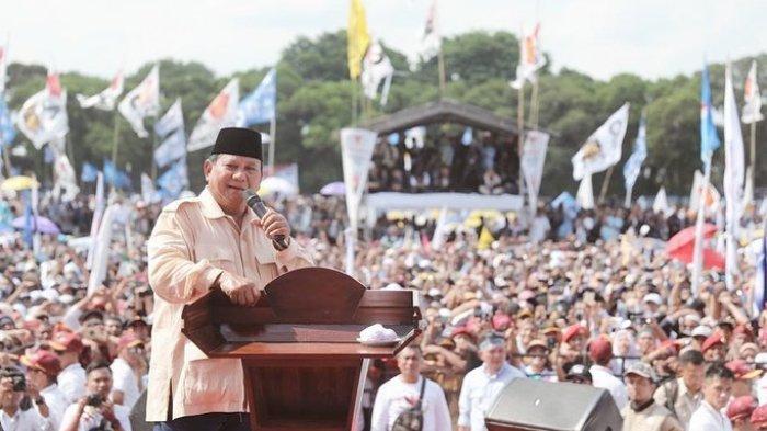 Suasana Kampanye akbar Prabowo Subianto-Sandiaga Uno di Solo, Rabu (10/4/2019).