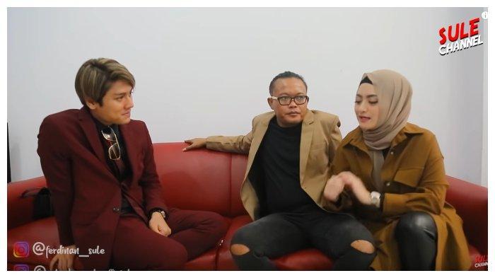 Sule, Rizky Billar dan Nathalie Holscher dalam kanal YouTube SULE Channel, Sabtu (10/10/2020).