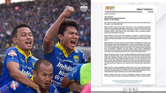 Unggah Sepucuk Surat untuk Presiden Joko Widodo, Penggawa Persib Bandung: Rindu Bapak Nendang Bola