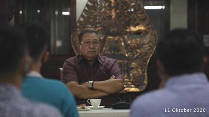 Mantan Presiden ke-6 RI Susilo Bambang Yudhoyono (SBY) angkat bicara tentang tuduhan pihaknya mendanai demo, diunggah Senin (12/10/2020).