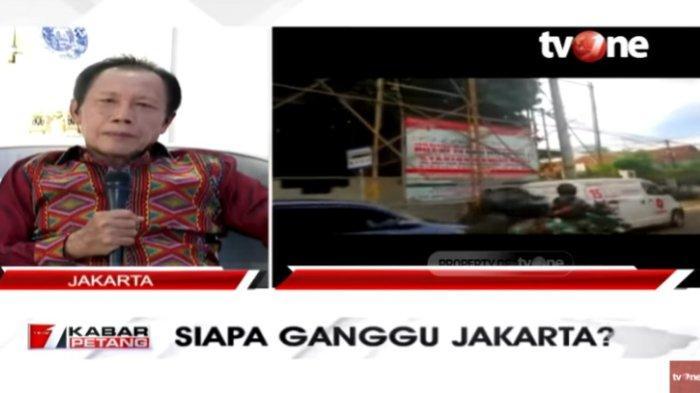 Mantan Gubernur DKI Jakarta sekaligus mantan Pangdam Jaya Sutiyoso menangapi pencopotan baliho Imam Besar Front Pembela Islam (FPI) Muhammad Rizieq Shihab alias Habib Rizieq, dalam Kabar Petang, Sabtu (21/11/2020).