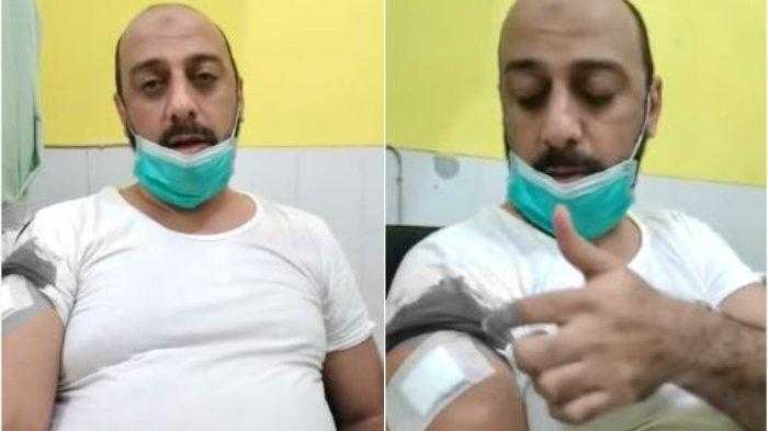 Syekh Ali Jaber diserang tiba-tiba oleh orang tak dikenal saat melakukan dakwah di Lampung pada Minggu (13/9/2020).