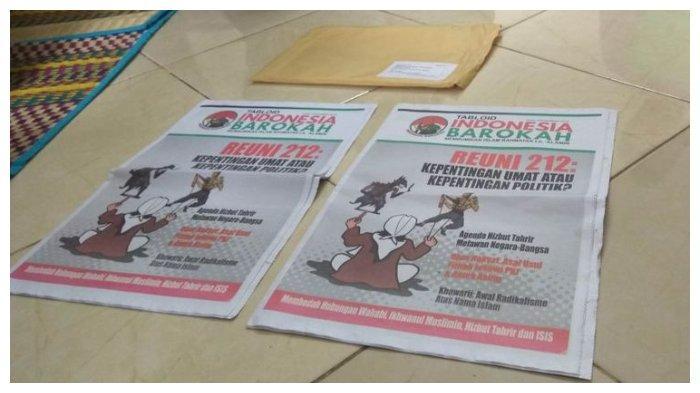 Tabloid Indonesia Barokah yang diterima Pimpinan Pondok Pesantren Daarul Huda, Kecamatan/Kabupaten Ciamis, Jawa Barat, Rabu (23/1/2019).