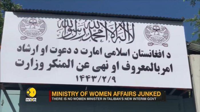 Taliban Tutup Kementerian Urusan Wanita Afghanistan, Pilih Aktifkan Kembali Polisi Moralitas