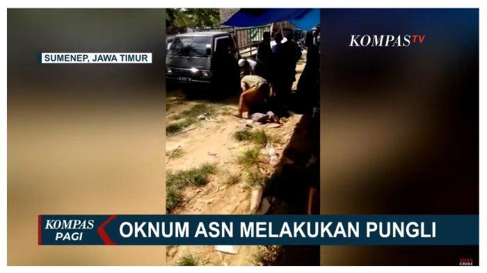 Menyamar Jadi Warga, Anggota Polisi di Sumenep Berhasil Ciduk Oknum ASN yang Lakukan Pungli di Pasar