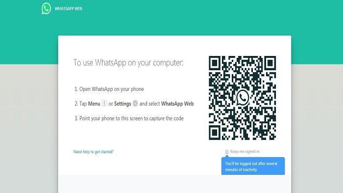 Tangkapan Layar WhatsApp Web