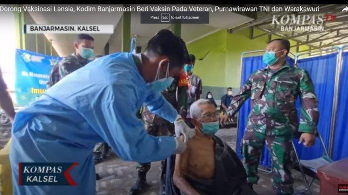 Purnawirawan TNI AD hingga Warakawuri Disuntik Vaksin Covid-19