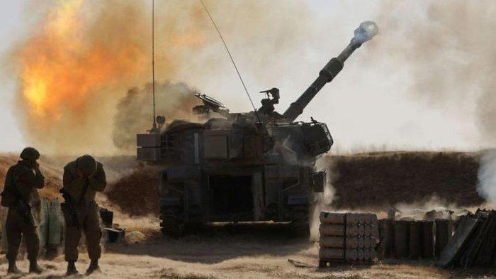 Israel mulai mengerahkan ribuan tentara ke perbatasan Gaza dan menempatkan sejumlah artileri dekat perbatasan di tengah konflik Palestina vs Israel, Kamis (14/5/2021).