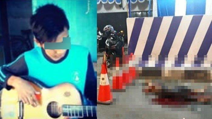 Foto terduga pelaku usaha bom bunuh diri di Pos Pengamanan Kartasura, Rofik Asharudin. (Kanan) Foto saat Rofik tergeletak usai meledakkan diri.