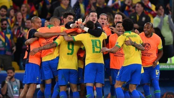 Hasil Final Copa America Brasil Vs Peru: Drama Penalti dan Kartu Merah Warnai Kemenangan Tim Samba
