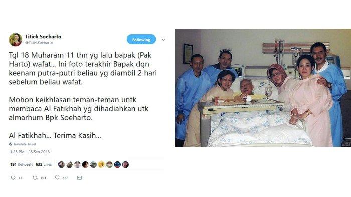 Unggahan Titiek Soeharto pada Twitter