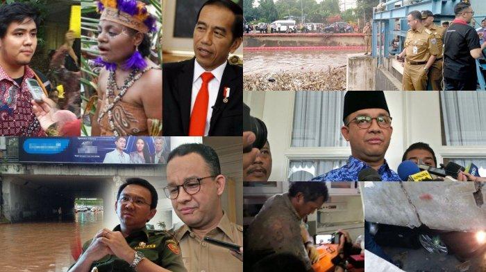 Perbandingan Ahok dan Anies saat Tangani Banjir Jakarta hingga Video Gunungan Sampahnya