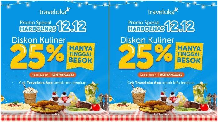 Peringati Harbolnas, Traveloka Beri Diskon Kulineran Sebesar 25 %, Cek Kodenya!