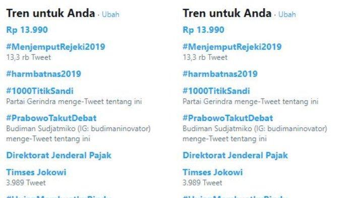 Trending Twitter 7 Januari 2019