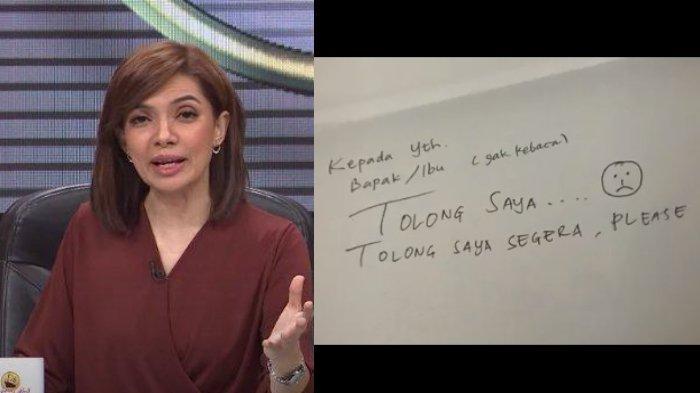 Najwa Shihab dan tulisan minta tolong Najwa yang diperjelas netizen.