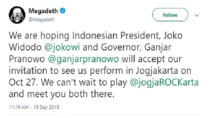 Tweet Megadeth