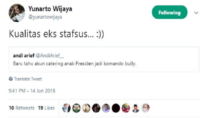 Tweet Yunarto Wijaya
