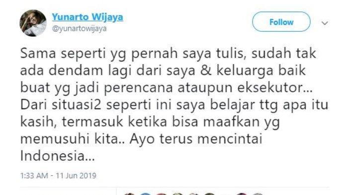 Direktur Eksekutif Charta Politika Yunarto Wijaya angkat bicara atas dirinya yang menjadi target pembunuhan oleh kelompok perusuh aksi 21-22 Mei atas permintaan mantan Kepala Staf Komando Cadangan Strategis Angkatan Darat Mayjen TNI (Purn), Kivlan Zen.