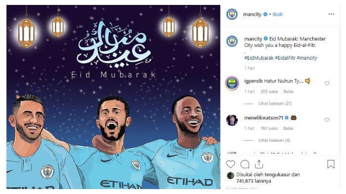 Ucapan hari raya Idul Fitri dari Manchester City