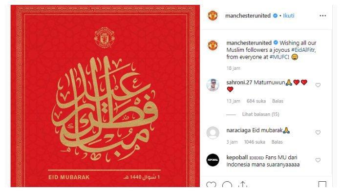 Ucapan hari raya Idul Fitri dari Manchester United
