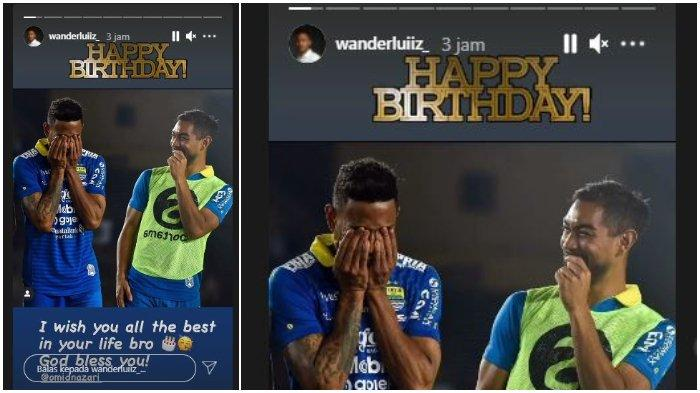 Ucapan selamat ulang tahun dari Wander Luiz untuk mantan pemain Persib Bandung Omid Nazari, Kamis (29/4/2021).
