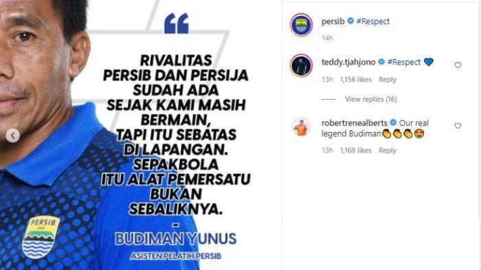 Unggahan akun Instagram Persib Bandung, @persib, Rabu (21/4/2021).