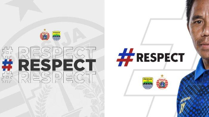 Redam Rivalitas, Persib Bandung dan Persija Jakarta Kompak Saling Hormat, Unggah Tagar Respect