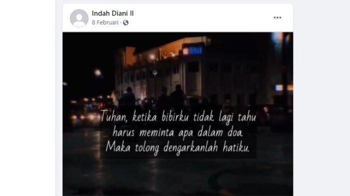 Viral Doa Terakhir Indah di Facebook sebelum Dibakar Pacar, Diserbu Netizen: Tuhan Dengarkan Hatiku