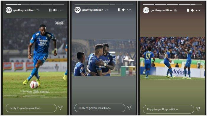 Unggahan story akun Instagram Geoffrey Castillion, setelah dipastikan akan kembali ke Persib Bandung setelah menyelesaikan masa peminjaman di klub Liga Italia, Como 1907, Selasa (11/5/2021).