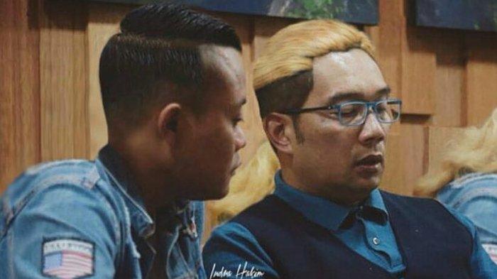 Respon Kocak Ridwan Kamil di Unggahan Sule saat Bertukar Model Rambut: Cocok Oge Sayah