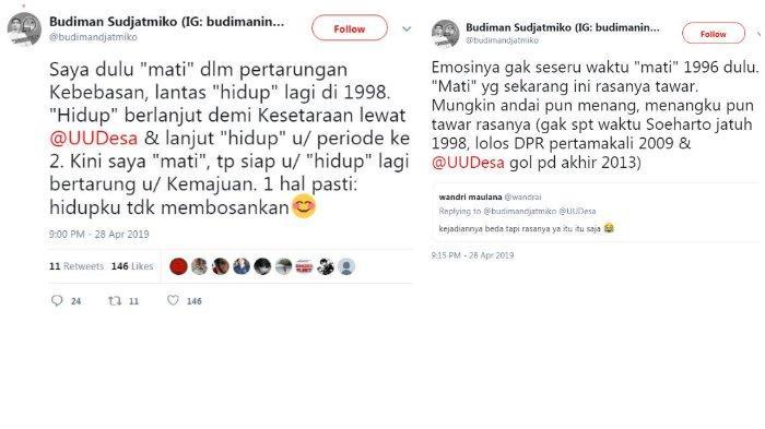 Unggahan twitter Budiman Sudjatmiko