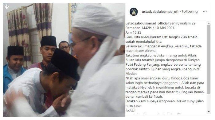 Unggan akun Instagram Ustaz Abdul Somad (UAS), Senin (10/5/2021).