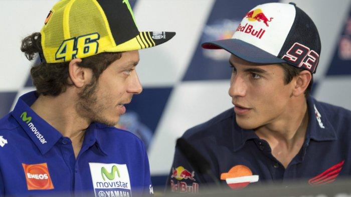 Alasan Valentino Rossi Tidak Mau Bersalaman dengan Marc Marques