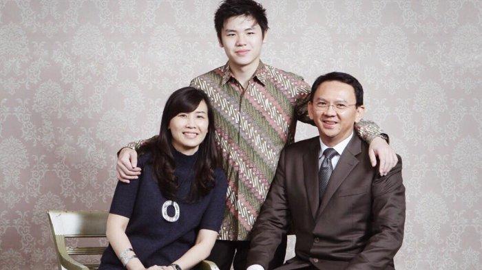 Veronica Tan dan Ahok bersama sang putra, Nicholas Sean