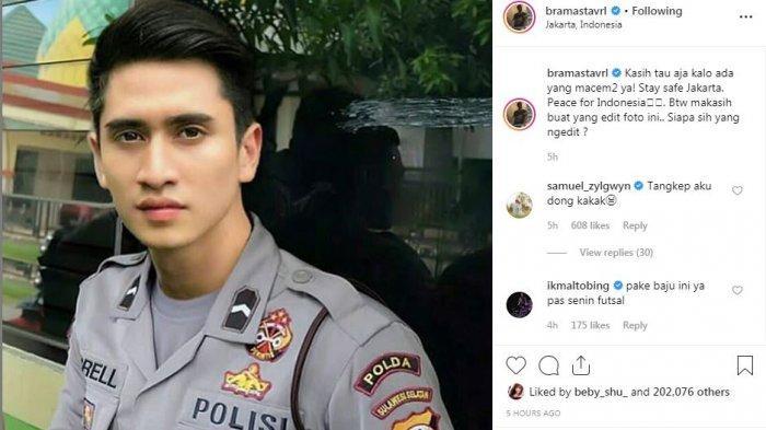 Verrel Unggah Foto di Instagram Gunakan Baju Seragam Polisi, Kamis (23/5/2019).