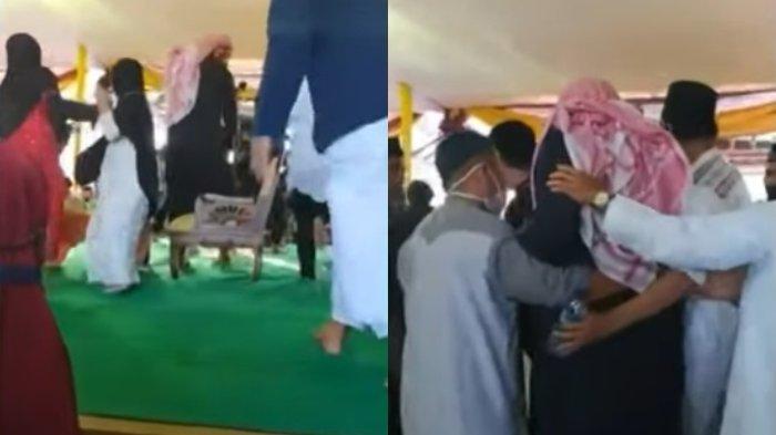 Video amatir detik-detik Syekh Ali Jaber ditusuk orang tak dikenal, Minggu (13/9/2020).